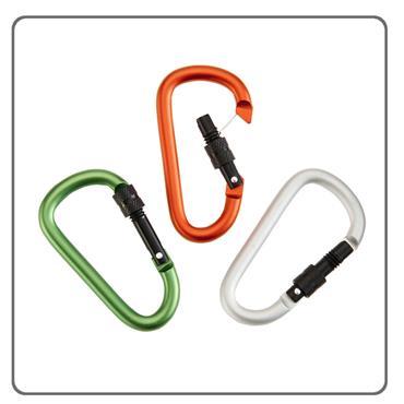 Locking Aluminum Carabiners 3 Pack