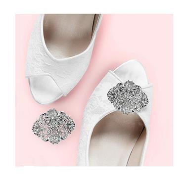 Caroline Shoe Clip Silver