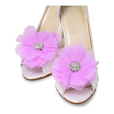 Lilac Flower shoe clips