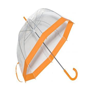 Clear Slim Trim Umbrella Orange - Shipping To Ireland Only