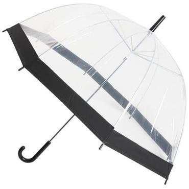 Clear Slim Black Trim Umbrella - Shipping to Ireland Only