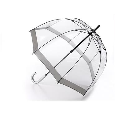 Clear Slim Grey Trim Umbrella - Shipping to Ireland Only