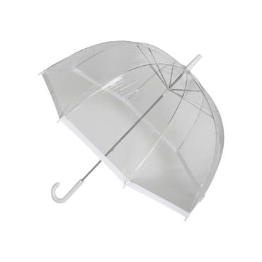 Clear Slim White Trim Umbrella - Shipping to Ireland Only