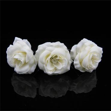 White Cloth Flower Bridal Hair Pin