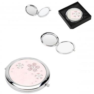 Sophia Silver Plated Compact Mirror