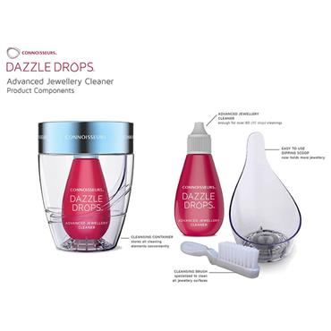 Dazzle Drops Advanced Jewellery Cleaner from Connoisseurs