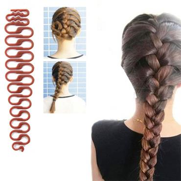 Easy Braider -  Hair Braiding Styling Tool Brown