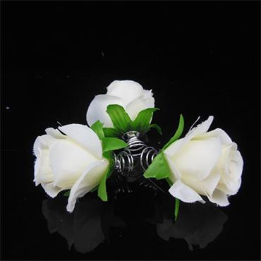 White Flower Bridal Hair Pins