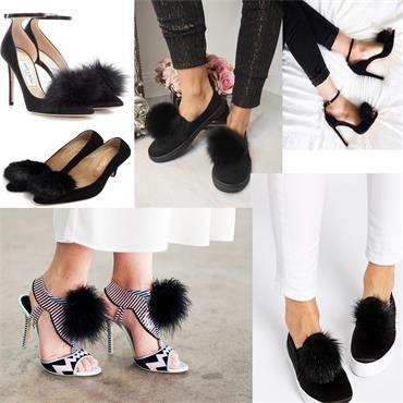Furla Pom Pom Shoe Clip Black