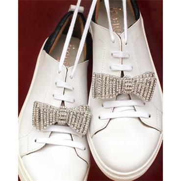 Garry Crystal Bow Shoe Clips