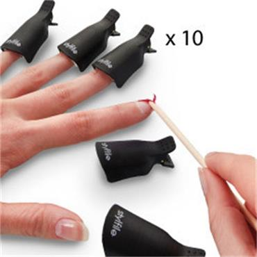 10 X Gel Nail Polish Remover Clips