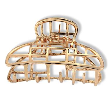 Gold Plated Metal Hair Claw Clamp