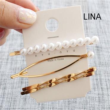 Gold & Pearl Hair Clip Sets