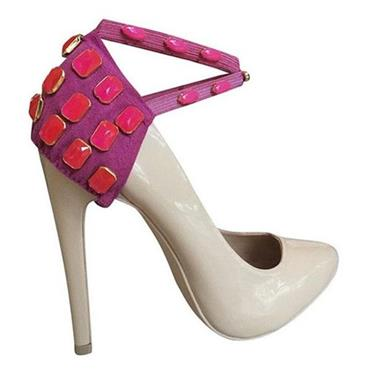 Pink Neon Heel Covers