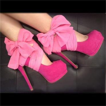 Pretty In Pink Heel Covers