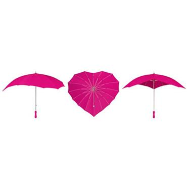 Hot Pink Heart Umbrella - Shipping to Ireland Only