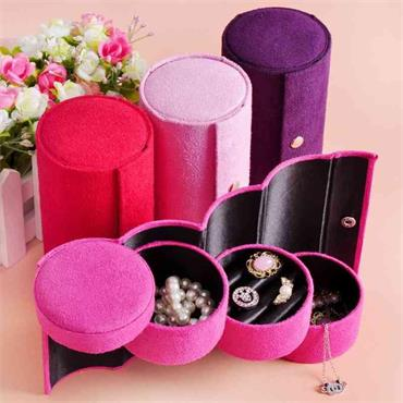 Pink Cylinder Jewellery Storage and Travel Case