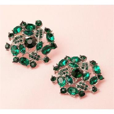 Juliette Emerald Green Shoe Clips