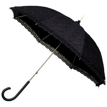 Modern Black Victorian Lace Umbrella - Shipping to Ireland Only