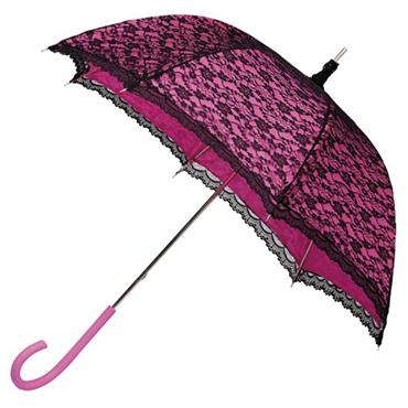 Modern Pink Victorian Lace Umbrella - Shipping to Ireland Only