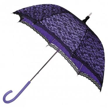 Modern Purple Victorian Lace Umbrella - Shipping to Ireland Only