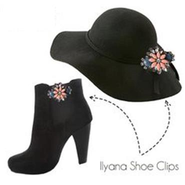 Ilyana Jamie 2 sets of Shoe Clips by Absolutely Audrey