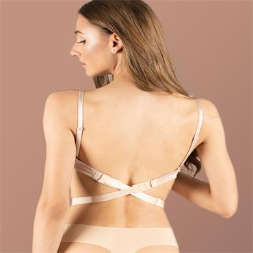 Low Back Bra Strap 2 Hook 3 Colours