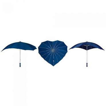 Navy Blue Heart Umbrella - Shipping to Ireland Only