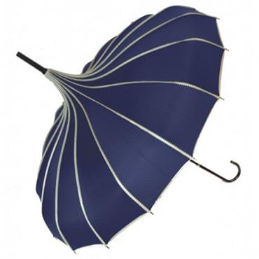 Navy Princess Pagoda Umbrella - Shipping to Ireland Only