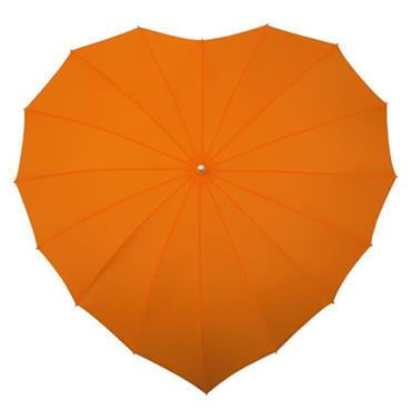 Orange Heart Umbrella - Shipping to Ireland Only