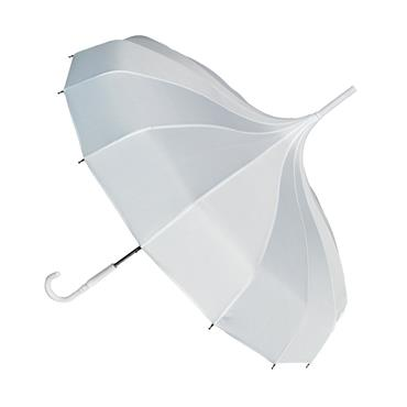 Oriental White Pagoda Umbrella - Shipping to Ireland only