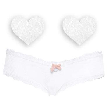 Nippies Intimates - White Bride Cheeky