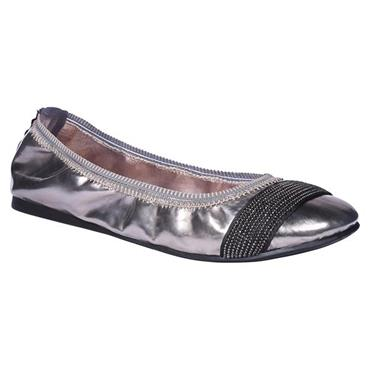 Redfoot Bijou Pewter Silver Foldable Ballet Pumps