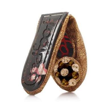 Foldable Marsha Gold Ballet Pump