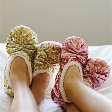 Shimmy Sequin Slippers - Pink