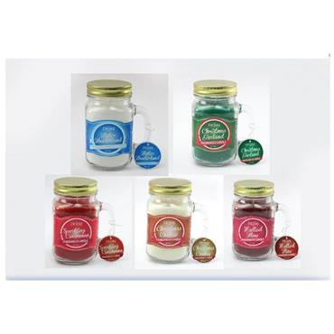 Christmas Scented Candles in Jam Jar Mug