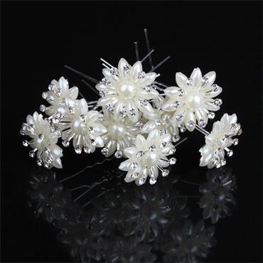 Pearl Flower Crystal Hair Pin
