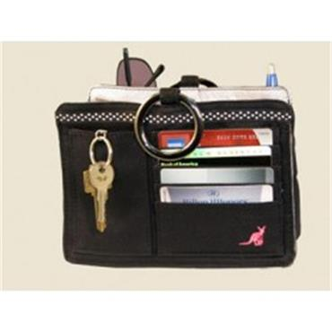 Pouchee Cotton Black Handbag Organiser