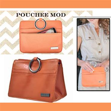 Pouchee MOD Faux Leather-Burnt Orange Handbag Organiser