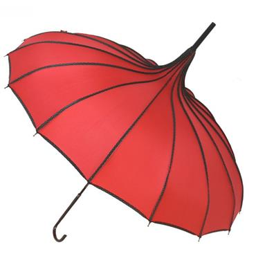 Red Princess Pagoda Umbrella - Shipping to Ireland Only
