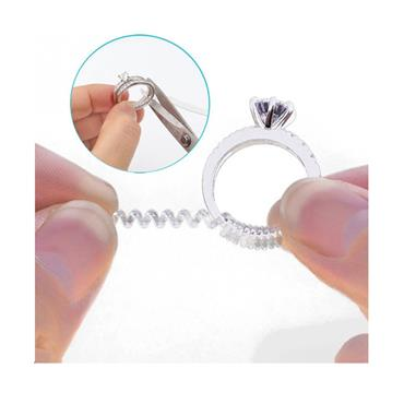 Ring Size Adjuster Transparent Spring Rope