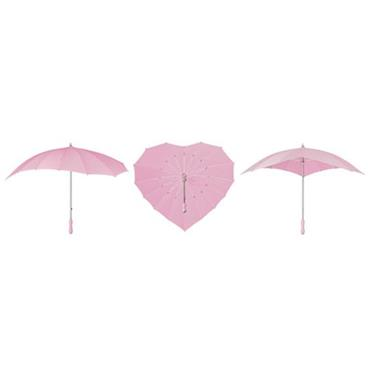 Soft Pink Heart Umbrella - Shipping to Ireland Only