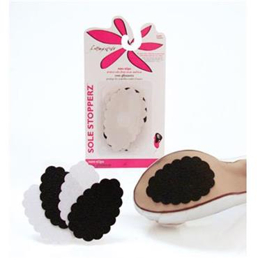 Foot Petals Sole Stopperz 2 Pairs ( Black & Clear)