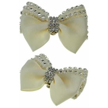 Elegance ribbon Diamante shoe clips