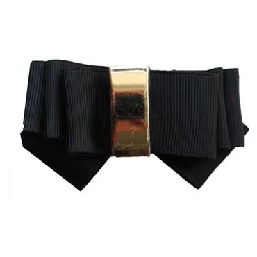 Classic Black Bow shoe clips