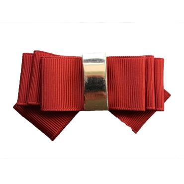 Classic Red Bow shoe clips