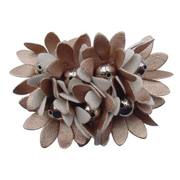 Copper Flower Shoe Clips