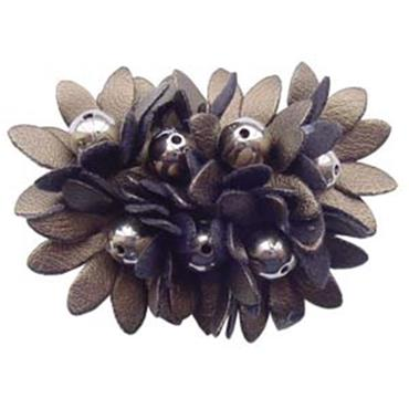 Burnt Copper Flower Shoe Clips
