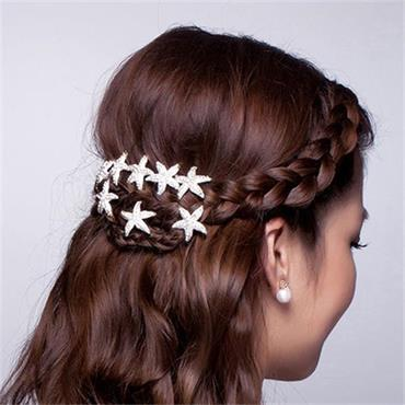 Crystal Star shaped Bridal Hair Pin