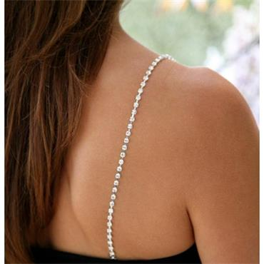 Strappy's - Single Row Rhinestone Straps in Silver